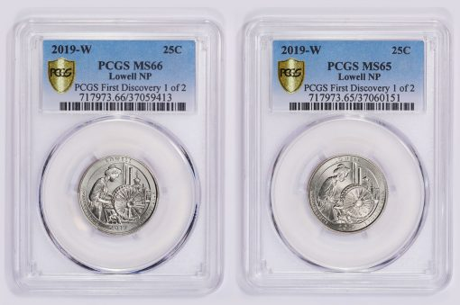 PCGS first Lowell 2019-W quarters