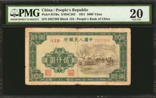 People's Bank of China. 5000 Yuan
