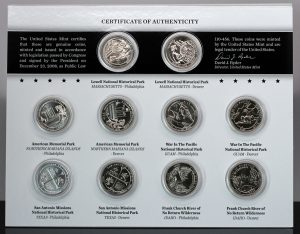 US Mint Sales: Uncirculated Quarters and Explore and Discover Sets Debut