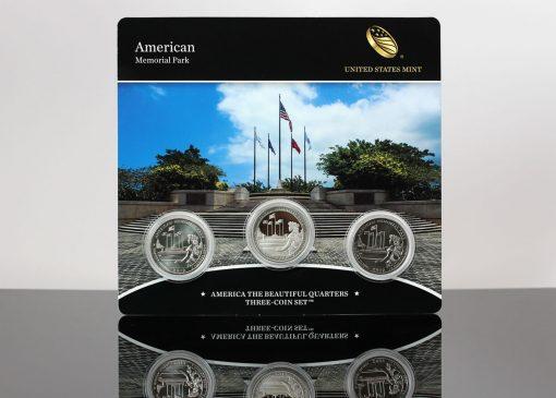 Photo of American Memorial Park Quarter Three-Coin Set