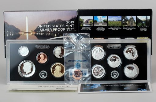 Photo of US Mint 2019 Silver Proof Set and 2019-W Reverse Proof Lincoln Cent
