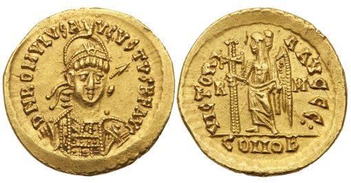 Romulus Augustus ancient coin