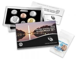 U.S. Mint 2019 Silver Proof Set Purchase Includes Reverse Proof 'W' Cent