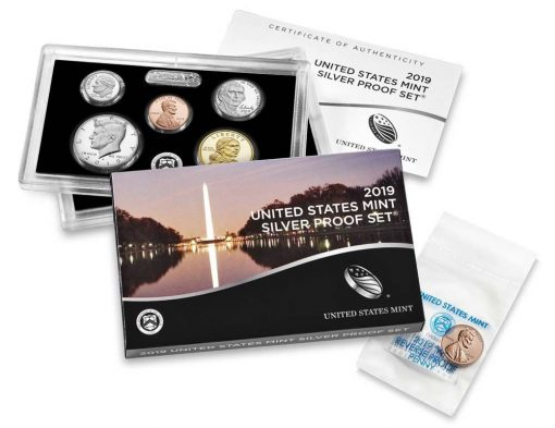 U.S. Mint 2019 Silver Proof Set and W cent