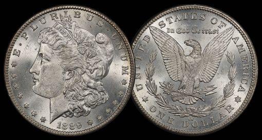 $1 1889-CC PCGS MS64 CAC