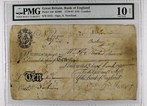 1778-97 Great Britain £10