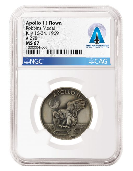 1969 Apollo 11 Flown Robbins Medal