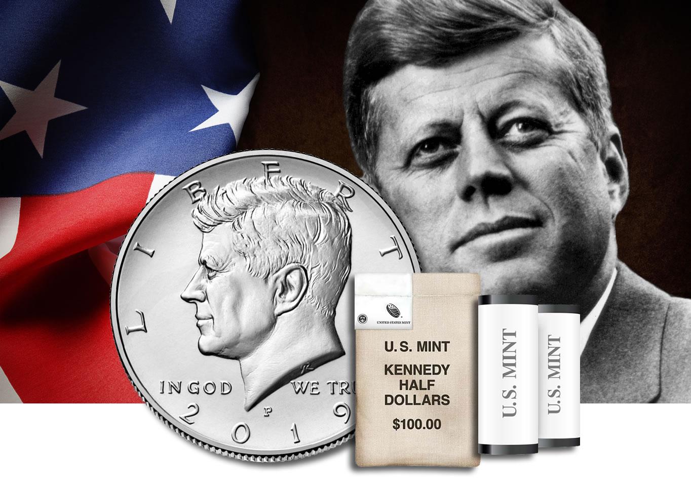 2013 2014 2015 2016 P+D Kennedy Half Dollar Set ~ From Original U.S Mint Rolls
