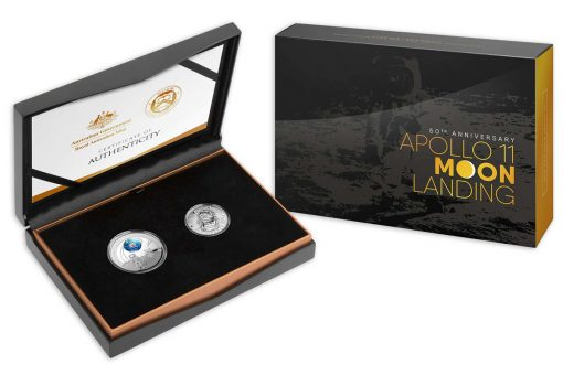 50th Anniversary of the Lunar Landing Two Coin Set