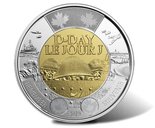 75th Anniversary of D-Day Canadian $2 Coin