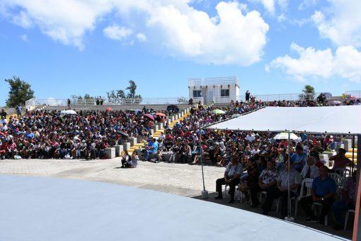 American Memorial Park Quarter Ceremony Crowd