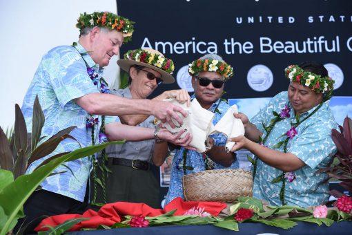 American Memorial Park Quarter Ceremony Pour