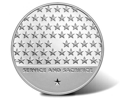 American Veterans Silver Medal - Reverse