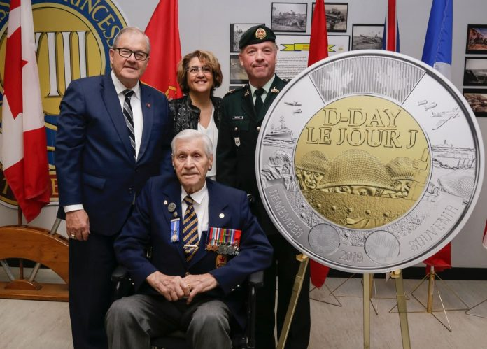 Canadian D-Day Coin Unveiling
