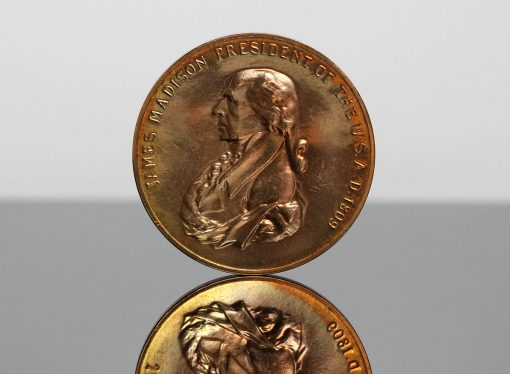 James Madison Presidential Bronze Medal - Obverse