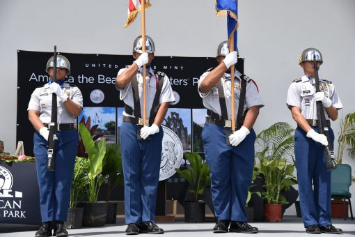 Saipan Southern High School JROTC Battalion Honor Guard
