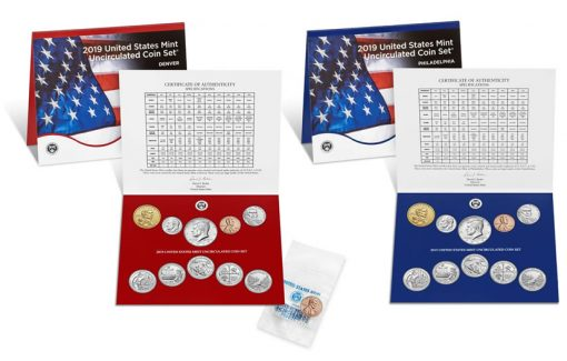 United States Mint 2019 Uncirculated Coin Set