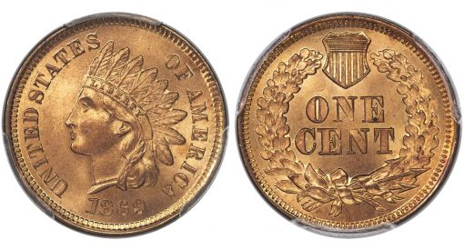 1869 1C MS66 Red