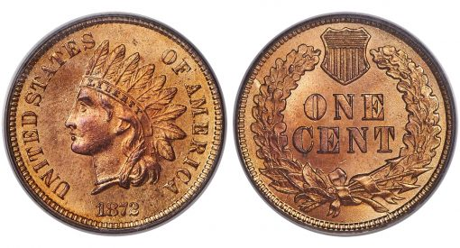 1872 1C MS66 Red