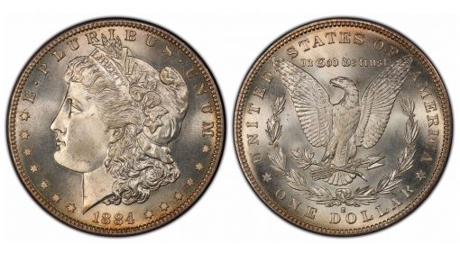 1884-S Morgan Dollar, graded PCGS MS67 CAC