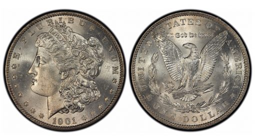 1901 Morgan Dollar, graded PCGS MS66