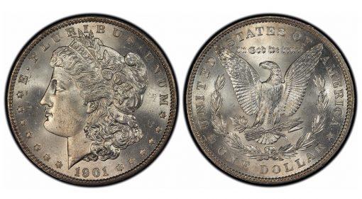 1901 Morgan Dollar, graded PCGS MS66