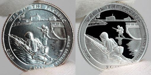2019 Uncirculated and Proof War in the Pacific National Historical Park quarters