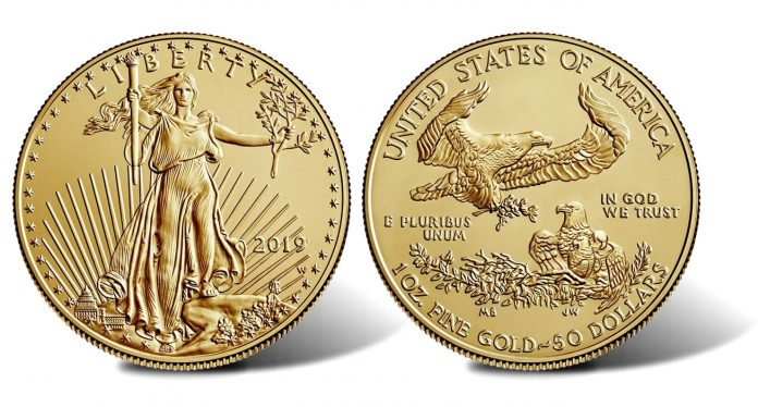 2019-W $50 Uncirculated American Gold Eagle - Obverse and Reverse