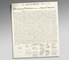 Declaration of Independence Engraved Print