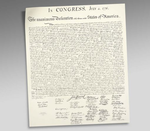 Declaration of Independence Engraved Print