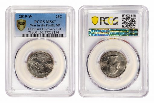 PCGS MS67 2019-W War in the Pacific quarter
