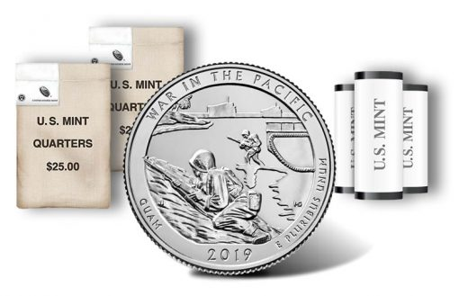 War in the Pacific National Historical Park quarter, rolls and bags
