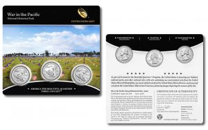 US Mint Sales: Set of War in the Pacific Quarters Debuts