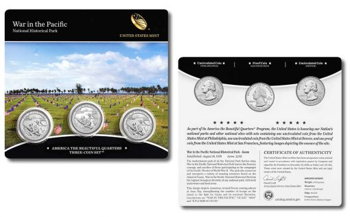 War in the Pacific Quarter Three-Coin Set