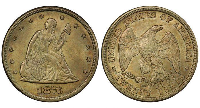 1876-CC twenty-cent piece