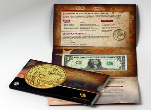 2019 Native American $1 Coin and Currency Set