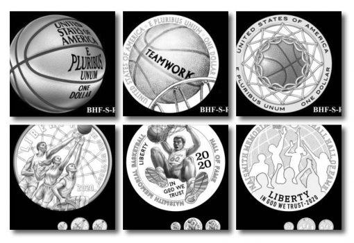 2020 Basketball Commemorative Coin Design Candidates