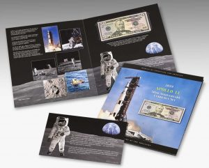BEP product images of its Apollo 11 50th Anniversary Currency Set