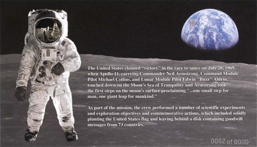 Buzz Aldrin on the Moon BEP Engraved Print