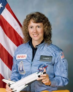 NASA photo of Christa McAuliffe