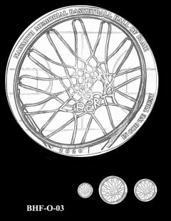 Obverse 2020 Basketball Coin Design Candidate BHF-O-03