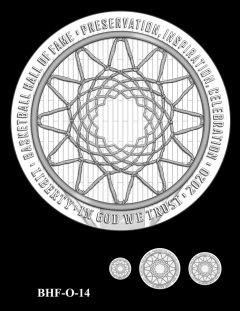 Obverse 2020 Basketball Coin Design Candidate BHF-O-14