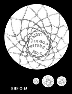 Obverse 2020 Basketball Coin Design Candidate BHF-O-15