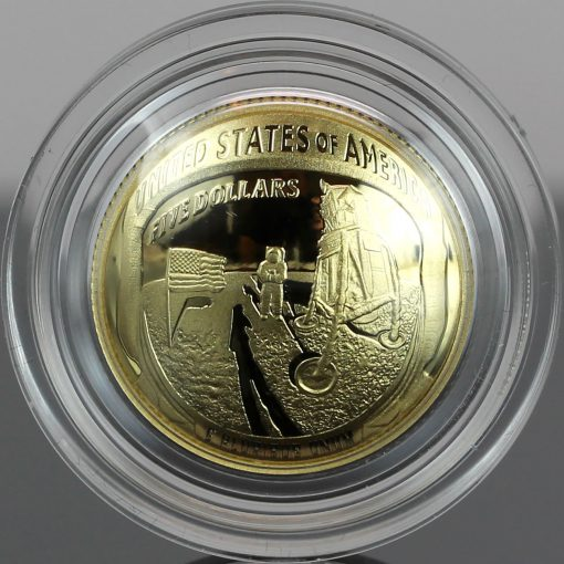 Photo of 2019-W Proof Apollo 11 50th Anniversary $5 Gold Coin