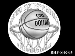Reverse 2020 Basketball Coin Design Candidate BHF-S-R-05