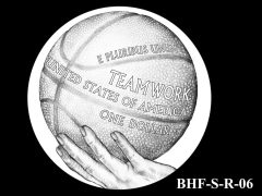 Reverse 2020 Basketball Coin Design Candidate BHF-S-R-06