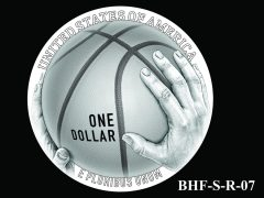 Reverse 2020 Basketball Coin Design Candidate BHF-S-R-07