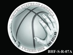 Reverse 2020 Basketball Coin Design Candidate BHF-S-R-07A
