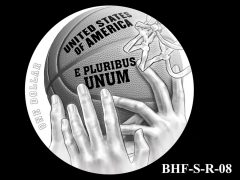 Reverse 2020 Basketball Coin Design Candidate BHF-S-R-08