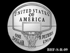 Reverse 2020 Basketball Coin Design Candidate BHF-S-R-09